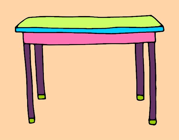 Dibujo de mesa rectangular pintado por mariadelca en el d a 15 04 15 a las 15 29 10 - Mesas de dibujo ...