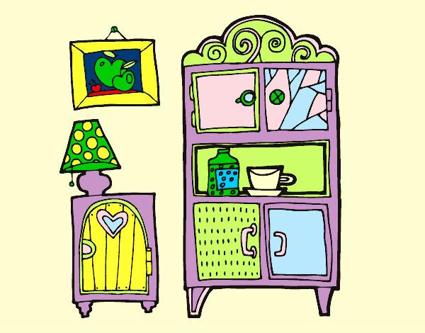 Dibujo de muebles de sal n pintado por martinezna en for Dibujos de muebles