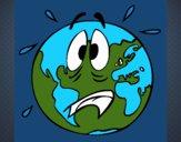 Dibujo Mundo asustado pintado por josed03