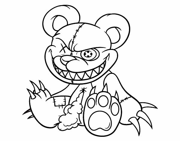 Dibujo De Monstruo Malo Para Colorear