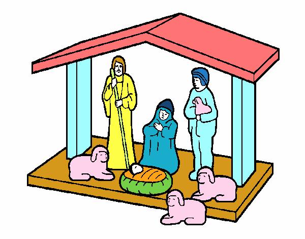 Dibujo Pesebre de navidad 1 pintado por totlara