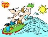 Phineas y Ferb - Surfeando