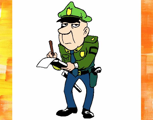 Policía haciendo multas