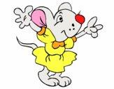 Rata con vestido