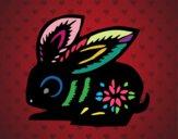 Dibujo Signo del conejo pintado por Diamond