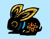 Dibujo Signo del conejo pintado por noramision