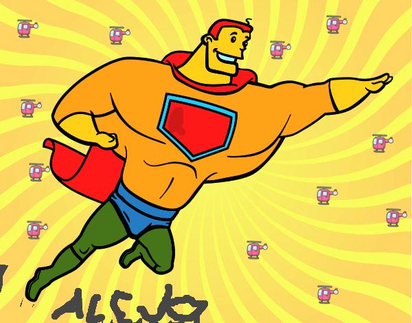 Dibujo Superhéroe grande pintado por jimel22