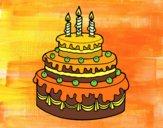 Dibujo Tarta de cumpleaños pintado por 04102004