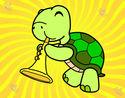 Dibujo Tortuga con trompeta pintado por jammy