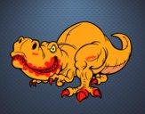 Dibujo Tyrannosaurus Rex pintado por jefferson2