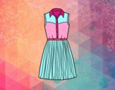 Dibujo Vestido tejano pintado por pilis_guer