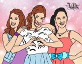 Dibujo Violetta, Francesca y Camila pintado por 04102004