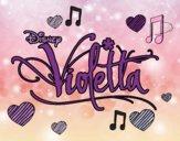 Dibujo Violetta logo pintado por 04102004
