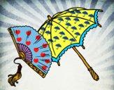 Abanico y paraguas