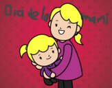 Dibujo Abrazo con mamá pintado por karenivan