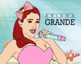 Ariana Grande cantando