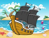 Dibujo Barco de vela pintado por gatitos3
