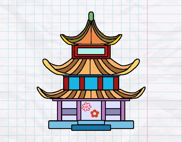 Dibujo de casa tradicional japonesa pintado por en dibujos - Casa tradicional japonesa ...