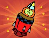 Cohete con ojos