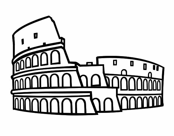 dibujo de coliseo romano pintado por en dibujos net el d u00eda Colosseum Cartoon roman colosseum clipart