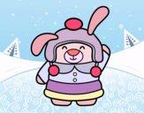 Conejita en invierno