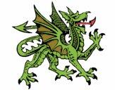 Dragón agresivo