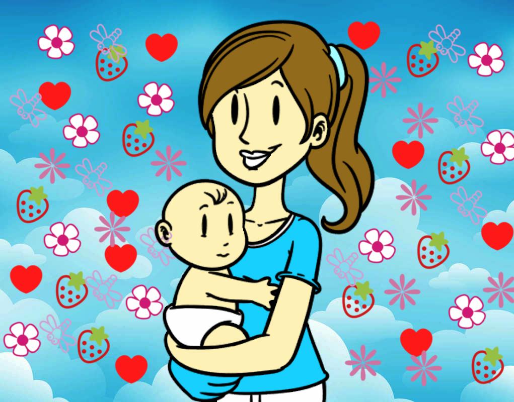 Dibujo de en brazos de mam pintado por ale26 en dibujos - Dibujos pintados en la pared ...