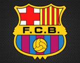 Dibujo Escudo del F.C. Barcelona pintado por karenivan