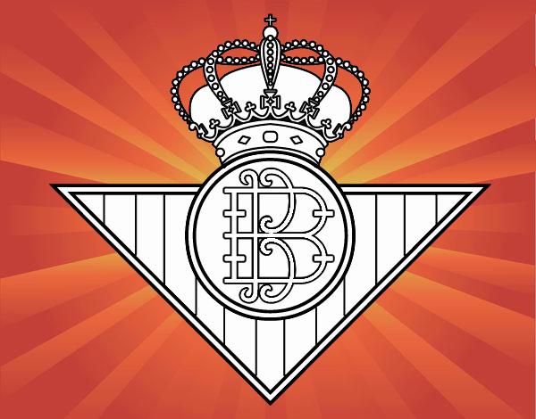 Dibujos Escudos De Futbol Para Colorear: Dibujo De Escudo Del Real Betis Balompié Pintado Por En