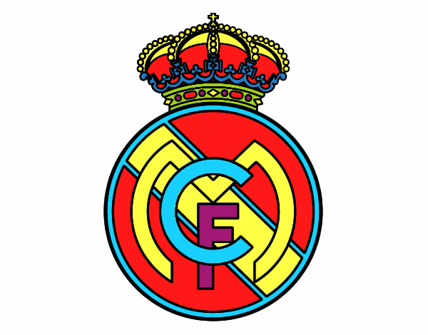 Dibujos Para Colorear Escudo Real Madrid: Real Madrid Colorear Escudo Del Real Madrid