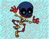 Dibujo Esqueleto contento 2 pintado por DEMIAN4