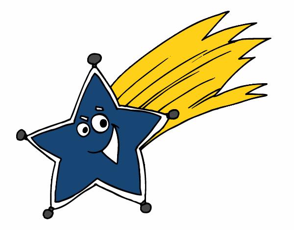Dibujo de estrella fugaz pintado por en el d a for Estrella fugaz navidad