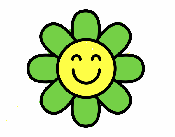 Worksheet. Dibujo de Flor sencilla pintado por en Dibujosnet el da 240415