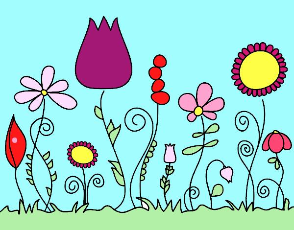 Dibujo de el jardin arcoiris pintado por en el for Jardin dibujo