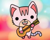 Gato guitarrista
