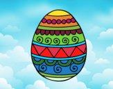 Huevo de Pascua decorado