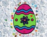 Huevo de Pascua margarita