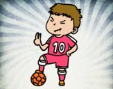 Dibujo Jugador número 10 pintado por paloomita