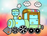 Dibujo Locomotora de vapor pintado por audora