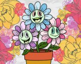 Dibujo Maceta de flores pintado por isita_mgb
