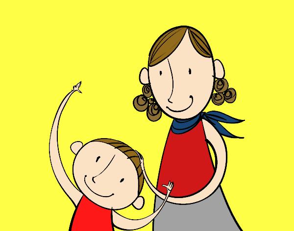 Dibujo de te amo mama pintado por en Dibujosnet el da 240415 a