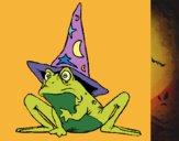 Dibujo Mago convertido en rana pintado por queyla