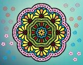Dibujo Mandala mosaico modernista pintado por queyla