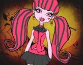 Dibujo Monster High Draculaura pintado por jng9