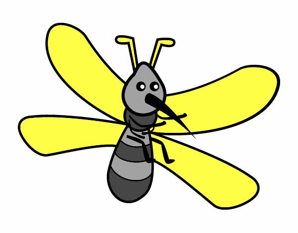 Dibujo de Mosquito con grandes alas pintado por en Dibujosnet el