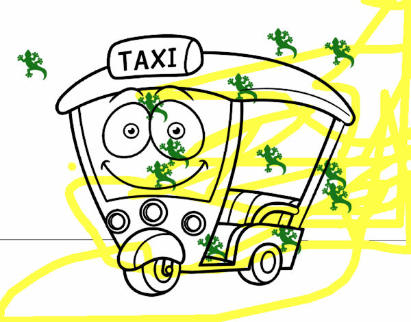 Dibujo de Moto  Taxi pintado por en Dibujosnet el da 230415 a