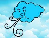Nube soplando