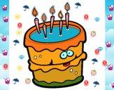Dibujo Pastel de cumpleaños 2 pintado por LauraMP
