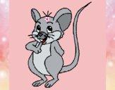 Dibujo Ratón pintado por queyla