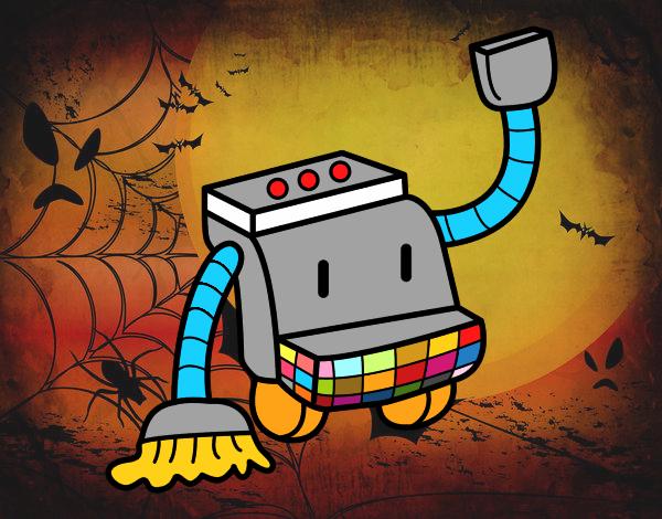 Dibujo de robot de limpieza pintado por tilditus en - Robot de limpieza a vapor ...